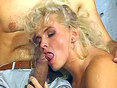 Sexy milf sucks big dick