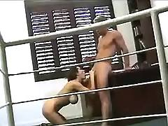 Intense blowjob in office
