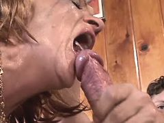 Mature fucks in diff poses n gets cumshot in mouth