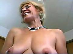 Granny plays with dildo