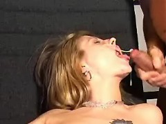 Young secretary gets double cumload