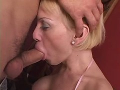 Explicit tranny and shameless dude suck each other