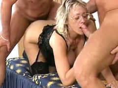 Mama with two horny studs