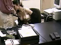 Sexy secretary sucks cock