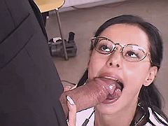 Mature woman doctor sucks cock n gets licking ass