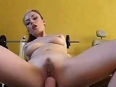 Attractive brunette lady gets fucked in diff poses