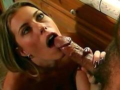 Wife blowing in kitchen